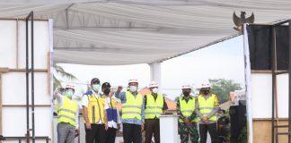 Dansektor 7 Bersama Asren dan Aster Kasdam III/Siliwangi Hadiri Acara Groundbreaking Pembangunan Kolam Retensi dan Polder Kelurahan Andir