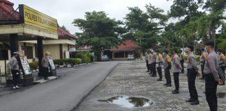 31 Personel Polres Tulang Bawang Disiagakan Back Up PAM Pilkatiyuh 2020