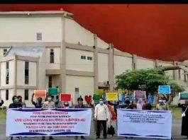 Dukung Maklumat Kapolri, Massa Aliansi Mahasiswa dan OKP OKI Gelar Aksi Deklarasi Anti Kerumunan