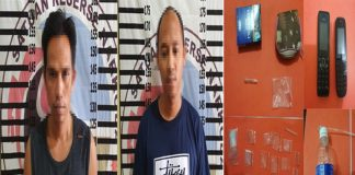 Dua Warga Pengedar Sabu di Banjar Margo Digelandang Polisi