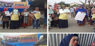"""""""KPK Tolong Pak Diawasi Ketua PN Medan Ini,""""!, Kata Warga Saat Gelar Demo Menolak Tanahnya Dieksekusi PN Medan Karena Miliki Sertifikat Tanah"""