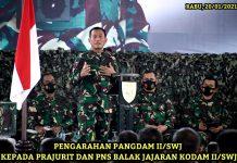 Selain Soal Kesehatan, Pangdam II/Swj Juga Minta Prajurit dan PNS Balakdam Hindari yang Satu Ini