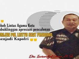 Sosok Listyo Sigit Prabowo Figur Kapolri, Ini Penilaian Tokoh Lintas Agama Kota Lubuklinggau