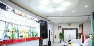 Rakor, Wagub Sumsel Dukung Kebijakan Pemerintah Pusat Pemberian Vaksin Covid-19 Secara Nasional