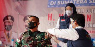 Pangdam II/Sriwijaya Jadi Salah Satu Orang Pertama Disuntik Vaksin Covid-19 dI Sumsel