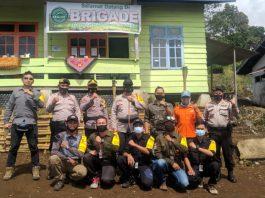 Jaga Kelestarian Gunung Dempo, Kapolres Pagar Alam Resmikan FKPM Brigade
