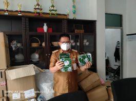 Pedagang Pasar Kota Lubuklinggau Dapat Bantuan APD dari Kemendag RI