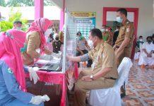 Pemkab Tuba 'Kick Off' Pemberian Vaksinasi Covid-19 Bagi Pejabat dan Pemuka Agama di Puskesmas Menggala