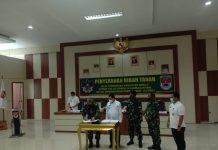 Dihadiri Bupati Mesuji, Danrem 043/Garuda Hitam Tandatangani Pemberian Tanah Hibah Seluas 40 Ha, Rencana Bangun Markas Batalyon B/143
