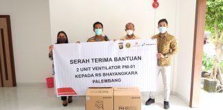RS Bhayangkara M Hasan Palembang Terima Bantuan 2 Unit Ventilator PM-01 dari SKK Migas-Pertamina EP dan Polda Sumsel