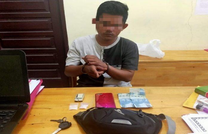 Nyambi Jualan Sabu, Karyawan Swasta ini Ditangkap Tim Opsnal Polsek Siak Hulu