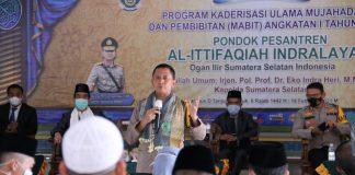 Dihadapan Peserta Yudisium Program Kaderisasi Ulama Mujahadah Ponpes Al-Ittifaqiah Indralaya, Kapolda Sumsel Berikan Resep Menjadi Pemimpin Hebat