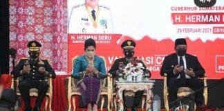 Kapolda Sumsel Hadiri Pelantikan 6 Bupati dan Wabup Pemenang Pilkada Serentak 2020