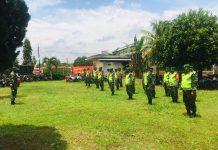 1 Pleton Personil Kodim 0429, Kawal Sertijab Plh Bupati Kepada Bupati Lamtim