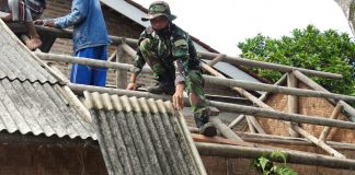 TMMD Kodim 0429 Bedah Rumah Anyaman Bambu Warga Kurang Beruntung, Begini Ungkapan Polos Sainah Singgung Bupati Anyar