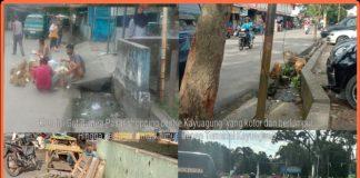 Miris, Ditengah Kota Kayuagung Got Mampet Dipenuhi Limbah Berlumpur