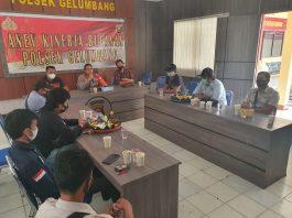Coffee Morning, Polsek Gelumbang Ajak Media Edukasi Masyarakat Melalui Publikasi Bahaya Covid-19