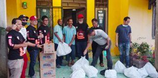 Beberapa Kelurahan di Prabumulih Berdampak Banjir, Komunitas KPI Bantu 400 Paket Sembako