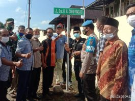 Drs HM Zahir Majid Tokoh Muara Pinang, di Tetapkan Jadi Nama Jalan