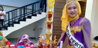 Dara Cantik Siswi MTs Negeri 1 Muara Enim, Raih Juara 1 Lomba Model yang Siap Bersaing di Kanca Nasional