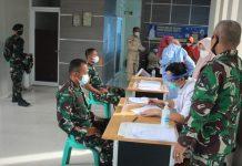 """Prajurit Yonkav 5/DPC """"Serbu"""" RS Gelumbang, Mayor Kav. Muslim Rahim: Kepada Masyarakat Agar Tidak Takut untuk Divaksin"""