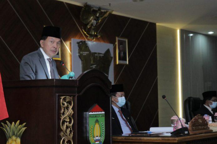 Gelar Rapat Paripurna ke XV, Anggota DPRD Prabumulih Bahas LKPj Walikota TA 2020