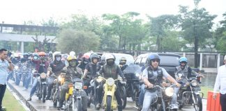 Peringati HUT MACI Lampung ke-28, Umar Ahmad Gelar Touring Keliling Sejumlah Destinasi Wisata Tubaba