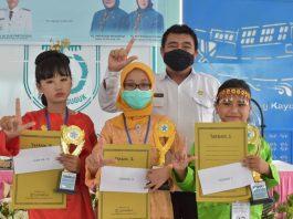 Tumbuhkan Budaya Literasi Sejak Dini, DKP OKI Gelar Lomba Bercerita Tingkat SD