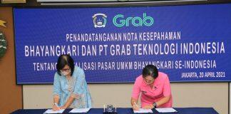 Peringati Hari Kartini, Bhayangkari dan PT Grab Lakukan MoU Digitalisasi UMKM se-Indonesia