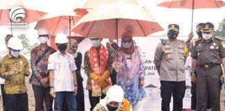 Bupati Lakukan Peletekan Batu Pertama Pembangunan Gedung KPU Musi Rawas