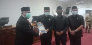 Pj Bupati PALI Sampaikan LKPJ Tahun 2020 ke DPRD
