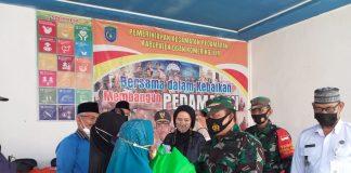 Baznas OKI Bersama Kodim 0402 Salurkan Bantuan Sembako kepada Warga Kurang Mampu