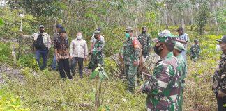 Danramil Mesuji Pimpin Pengukuran Lahan Batalyon 143/TWEJ