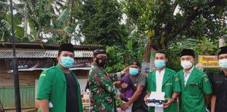 Aksi Nyata Koptu Isdiyono Bersama Pemuda Karang Taruna Desa Batangharjo, Tegur dan Bagikan Masker Gratis