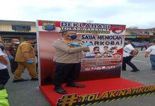Deklarasi Tolak Narkoba Menuju Sumut Bersinar, Polrestabes Medan Musnahkan BB Narkotika Senilai Rp 30 Miliar dengan Cara Digiling dan Dibakar