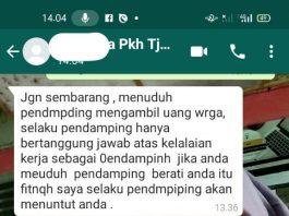 Lewat Chat Whatsapp, Pendamping PKH Ancam Laporkan Wartawan Radar Silampari