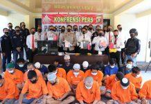 Terjaring Operasi Sikat Musi 1 Tahun 2021, 25 Pelaku DPO 3C Terancam Lebaran di Sel Tahanan Polres Muara Enim