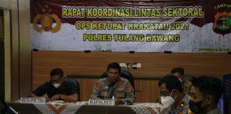 Polres Tulang Bawang Gelar Rakor Jelang Operasi Ketupat Krakatau 2021, Ini Hasilnya