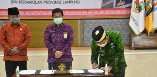 Pemkab Lampung Timur Dapatkan Opini WTP Laporan Keuangan Tahun 2020