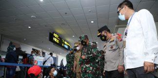 Kapoldasu dan Pangdam I/BB Tinjau Bandara Kualanamu Perketat Prokes