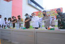 Hadiri Pemusnahan 10 Kg Sabu, DRA Apresiasi Kerja Keras Jajaran Polres Muba
