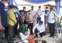 Gubernur Sumsel Lakukan Peletakan Batu Pertama Pembangunan Masjid Jamik Tjik Luwi Al – Murhaniah