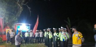 Kapolres Muratara Pimpin Langsung Penyekatan di Pos Terpadu Jambi-Sumsel