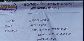 Proyek Pamsimas Sumber Makmur Disoal Warga, Status Ketua KKM dan Satlak PNS Aktif
