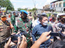 Danpomdam II/Sriwijaya Dampingi Gubernur Sumsel Tinjau Pos Penyekatan Arus Mudik Lebaran
