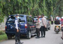 Wakapolda Sumsel Cek Pos Penyekatan Dekranasda Jakabaring Palembang, Berikan Semangat ke Petugas