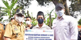 Peduli Korban Kebakaran di Gunung Megang, PT. Bukit Asam Salurkan Bantuan Sembako dan Uang Tunai