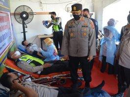 Peduli Pasien Operasi Jantung, Personel Polres Muba Gelar Aksi Donor Darah