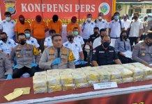Gagalkan Penyelundupan 40 Kg Sabu Asal Jaringan Malaysia – Aceh, Polisi Amankan 3 Gembong Narkoba dan 1 Kurir
