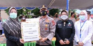 Serbu Kampung Zona Merah, Polda Sumsel Sebar 4.000 Alat Testing Swab Antigen